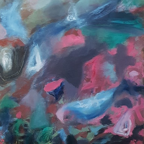 (CreativeWork) The journey by Vanessa Whittington. Oil Paint. Shop online at Bluethumb.