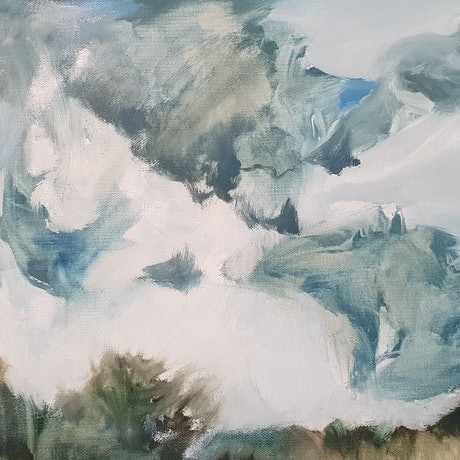 (CreativeWork) Wild day by Vanessa Whittington. Oil Paint. Shop online at Bluethumb.