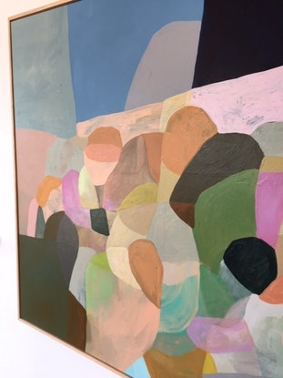 (CreativeWork) The Gathering by Rachael Nunney. Acrylic Paint. Shop online at Bluethumb.