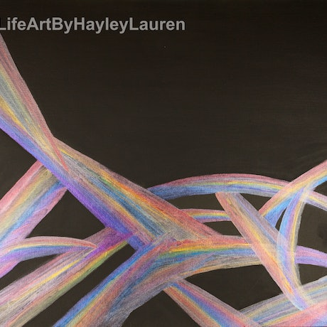 (CreativeWork) Spectrum by Hayley Kroschel. Acrylic Paint. Shop online at Bluethumb.