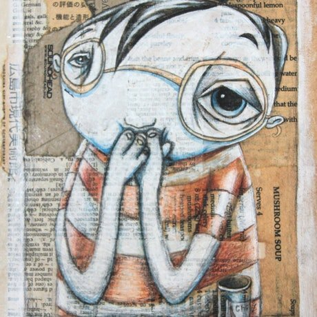 (CreativeWork) Winston Realised... by Rachel Favelle. Mixed Media. Shop online at Bluethumb.