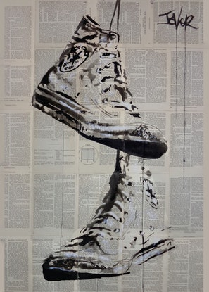 (CreativeWork) ON THE WIRE by loui jover. Mixed Media. Shop online at Bluethumb.