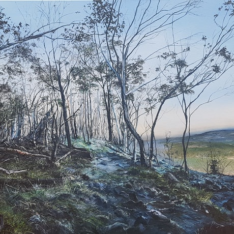 (CreativeWork) Returning by Fae Ballingall. Oil Paint. Shop online at Bluethumb.