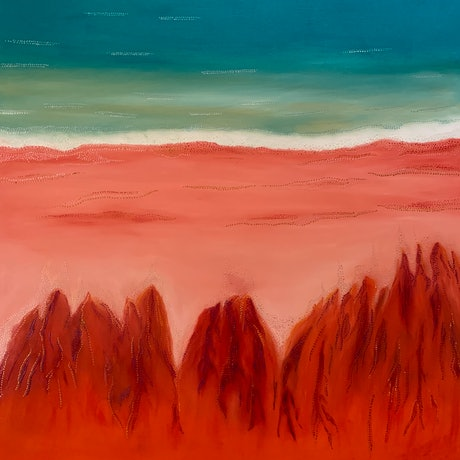 (CreativeWork) Broome Bluff by Di Parsons. Oil Paint. Shop online at Bluethumb.