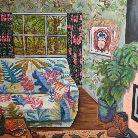 (CreativeWork) Jungle Room by Steven Firman. Acrylic Paint. Shop online at Bluethumb.