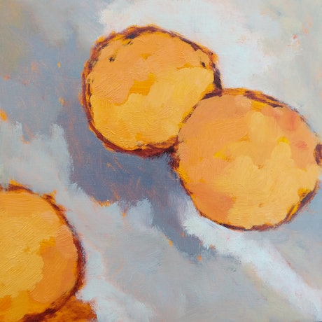 (CreativeWork) Oranges VII by Amanda Cutlack. Oil Paint. Shop online at Bluethumb.
