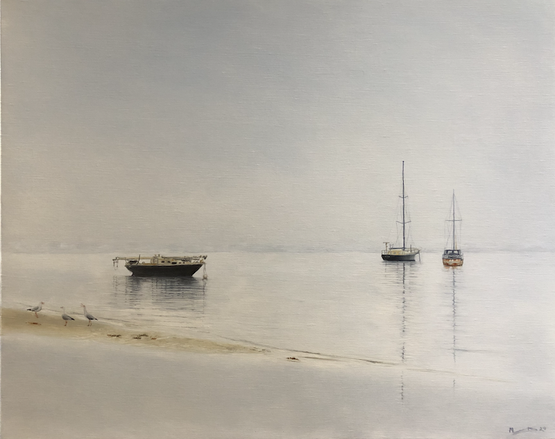 (CreativeWork) Tranquility by Melissa Kenihan. Oil Paint. Shop online at Bluethumb.