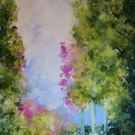 (CreativeWork) A Peaceful Place by Maria Cross. Acrylic Paint. Shop online at Bluethumb.