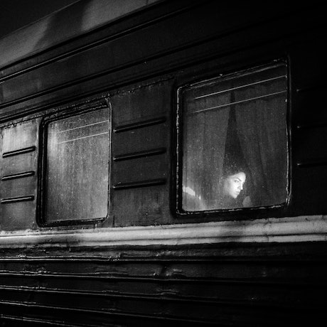 (CreativeWork) The Girl in the Train Window Ed. 1 of 50 by Pepijn Thijsse. Photograph. Shop online at Bluethumb.