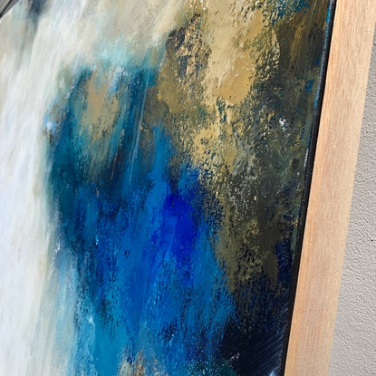 (CreativeWork) Cinnamon & Blueberry &  Martini by Lisa Wisse-Robinson. Mixed Media. Shop online at Bluethumb.