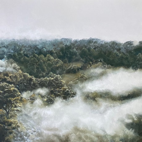 (CreativeWork) Lost to the Mist (Limited Edition stretched canvas print) Ed. 1 of 30 by Annie Hawkins. Print. Shop online at Bluethumb.