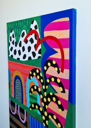 (CreativeWork) Afternoon Delight by Amy Kim. Acrylic Paint. Shop online at Bluethumb.