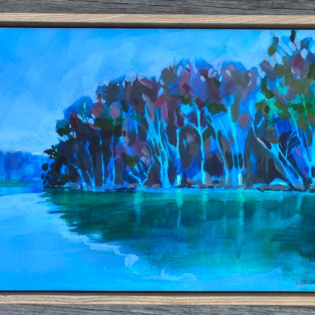 (CreativeWork) Time Heals Most Things (AVAILABLE FRAMED) by Kate Gradwell. Acrylic Paint. Shop online at Bluethumb.