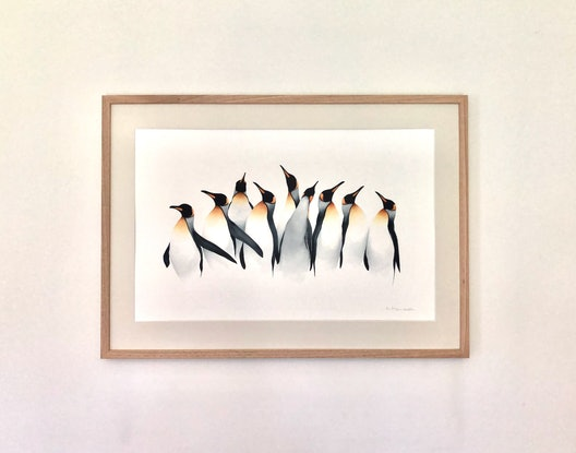 (CreativeWork) At the Starting Line by Nadine Dudek. Watercolour Paint. Shop online at Bluethumb.