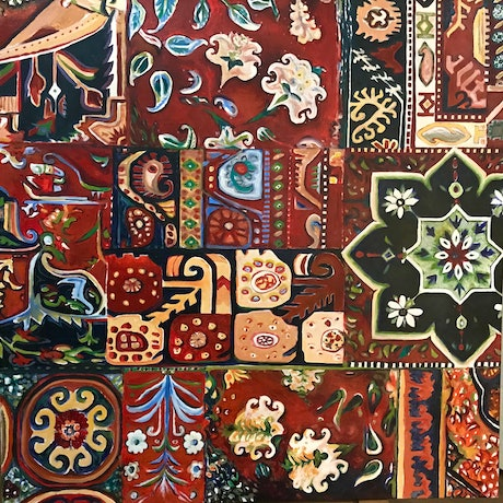 (CreativeWork) PERSIAN ORNAMENT no 2 by LOUISE GROVE WIECHERS. Acrylic Paint. Shop online at Bluethumb.