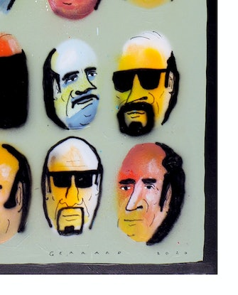 (CreativeWork) Orderly Group by Tom Gerrard. Acrylic. Shop online at Bluethumb.