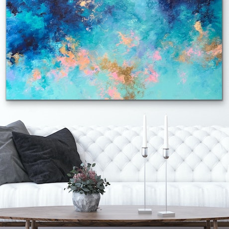 (CreativeWork) Serenity by Kristyna Dostalova. Oil Paint. Shop online at Bluethumb.