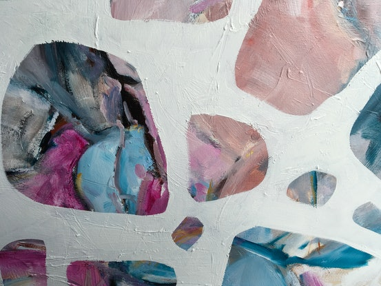 (CreativeWork) Opal Lights by Meredith Howse. Oil Paint. Shop online at Bluethumb.