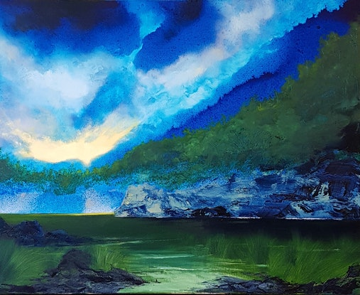 (CreativeWork) Awakening by Phillip McKay. Oil Paint. Shop online at Bluethumb.