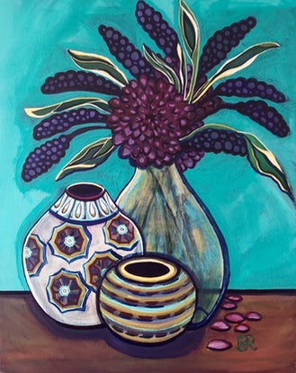 (CreativeWork) Faking it by Penny Ross. Acrylic Paint. Shop online at Bluethumb.