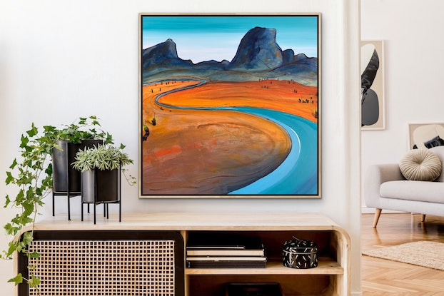(CreativeWork) Wandering Plains by Tania Chanter. Acrylic Paint. Shop online at Bluethumb.
