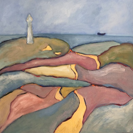 (CreativeWork) Light Station by Susannah Bond. Oil Paint. Shop online at Bluethumb.