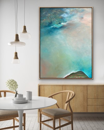 (CreativeWork) South Of The Divide 122 x 92cm Large Portrait Abstract Landscape by Tania Chanter. Acrylic Paint. Shop online at Bluethumb.