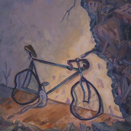 (CreativeWork) Abandoned Bicycle  by Luke RION. Acrylic Paint. Shop online at Bluethumb.