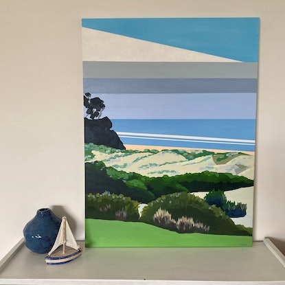 (CreativeWork) Beach Life For Me Original Painting by Lisa Turner. Acrylic Paint. Shop online at Bluethumb.