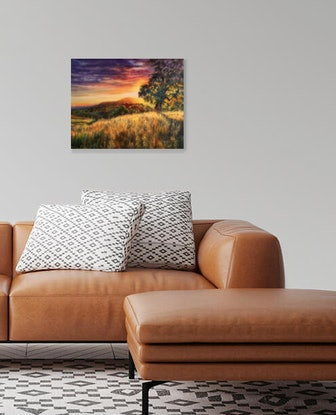 (CreativeWork) Summer Afternoon by Cathy Yarwood - Mahy. Oil. Shop online at Bluethumb.