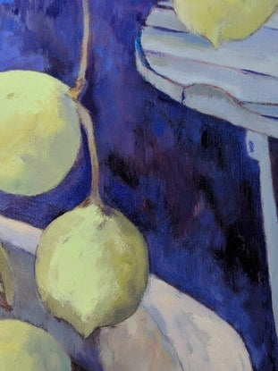 (CreativeWork) Mum's lime tree by Amanda Cutlack. Oil Paint. Shop online at Bluethumb.