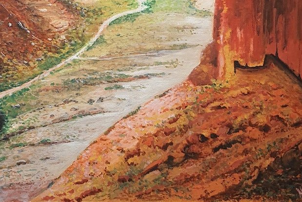 (CreativeWork) Charles Knife Gorge by Harry Lea. Watercolour Paint. Shop online at Bluethumb.