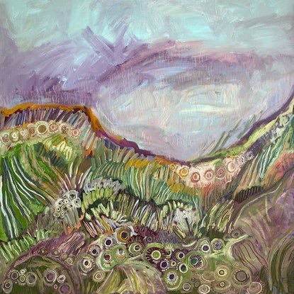 (CreativeWork) Untamed land by Jessie Beard. Mixed Media. Shop online at Bluethumb.