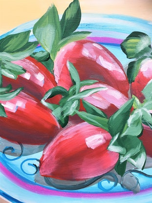 (CreativeWork) Sweet, Sweet love – Strawberries – LIMITED EDITION GICLEE PRINT- A1 Large Print - Easy To Frame  Ed. 1 of 100 by HSIN LIN. Print. Shop online at Bluethumb.