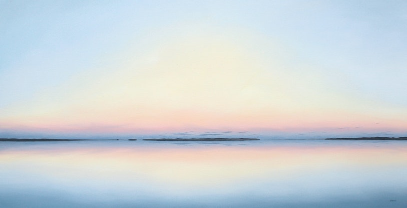 (CreativeWork) Sunrise on the bay. by Richard Stanley. Oil Paint. Shop online at Bluethumb.
