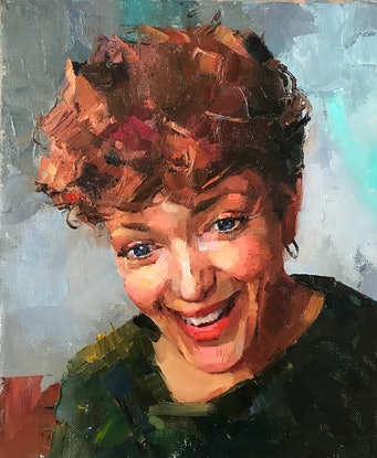 (CreativeWork) Oil Sketch - Annie Mac by Colleen Stapleton. Oil Paint. Shop online at Bluethumb.
