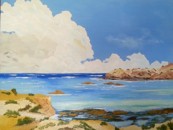 (CreativeWork) CALM BEFORE THE STORM.  by owen jones. Oil Paint. Shop online at Bluethumb.