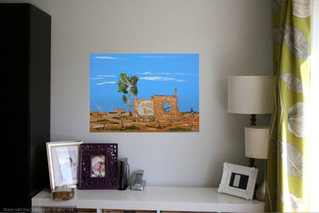 (CreativeWork) Old Ruins. Oil on Canvas.   by owen jones. Oil Paint. Shop online at Bluethumb.