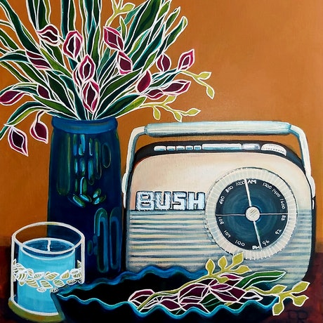 (CreativeWork) Tuning In by Penny Ross. Acrylic Paint. Shop online at Bluethumb.