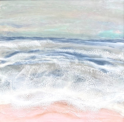 (CreativeWork) Sea Mist by Victoria Featon. Resin. Shop online at Bluethumb.
