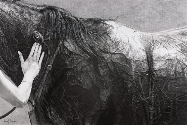 (CreativeWork) Touch Of A Woman by Lew Brennan. Drawings. Shop online at Bluethumb.