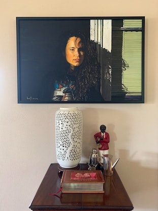 (CreativeWork) Backstreet Madonna by Lew Brennan. Oil Paint. Shop online at Bluethumb.