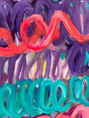 (CreativeWork) CELEBRATE YOU - COLOURFUL ABSTRACT  by Belinda Stone. Mixed Media. Shop online at Bluethumb.