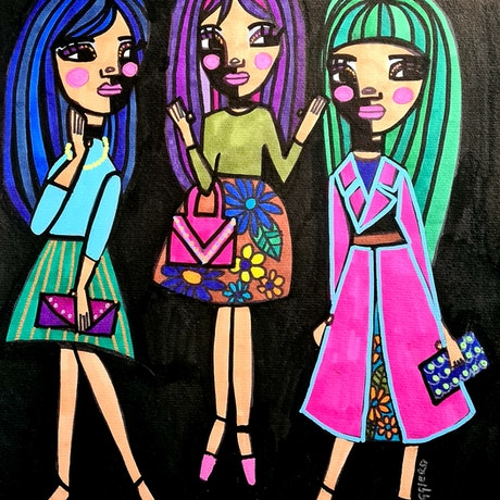 (CreativeWork) We are FABULOUS  by jane ruggiero. Drawings. Shop online at Bluethumb.