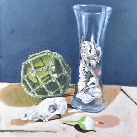 (CreativeWork) Still Life #1 by John Barcham. Oil Paint. Shop online at Bluethumb.