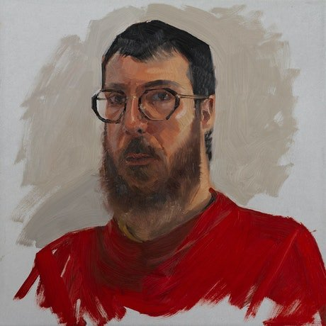 (CreativeWork) Isolation Self Portrait In Red Jumper by Tom Ferson. Oil Paint. Shop online at Bluethumb.