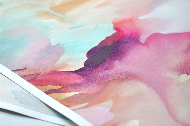 (CreativeWork) Kaleidoscope by Renee Tohl. Watercolour Paint. Shop online at Bluethumb.