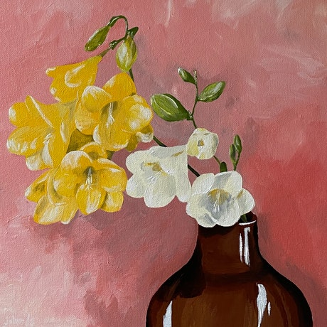 (CreativeWork) The Smell of Spring by Johanna Fry. Acrylic Paint. Shop online at Bluethumb.