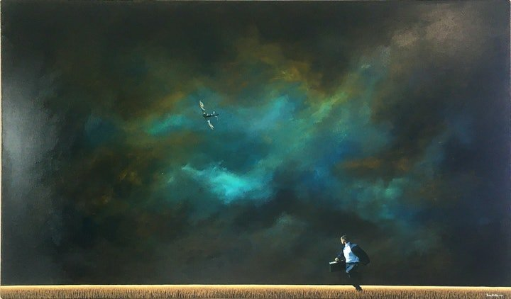 (CreativeWork) Crossing the border. by James Robertson. Oil Paint. Shop online at Bluethumb.