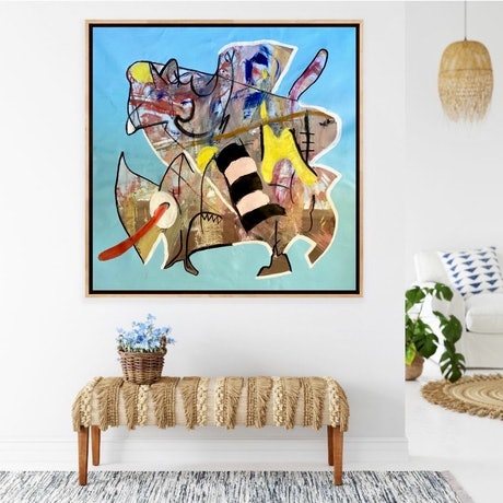 (CreativeWork)  *** ON SALE Outback Licker by Shane Bowden. Mixed Media. Shop online at Bluethumb.